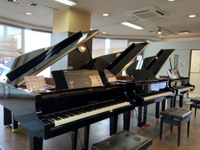 グランドピアノ展示