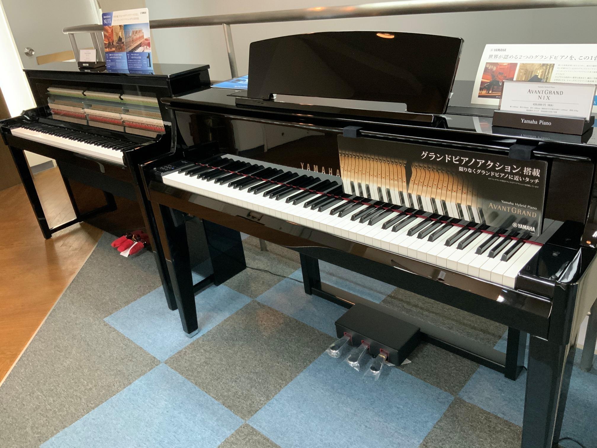 ハイブリッドピアノ展示